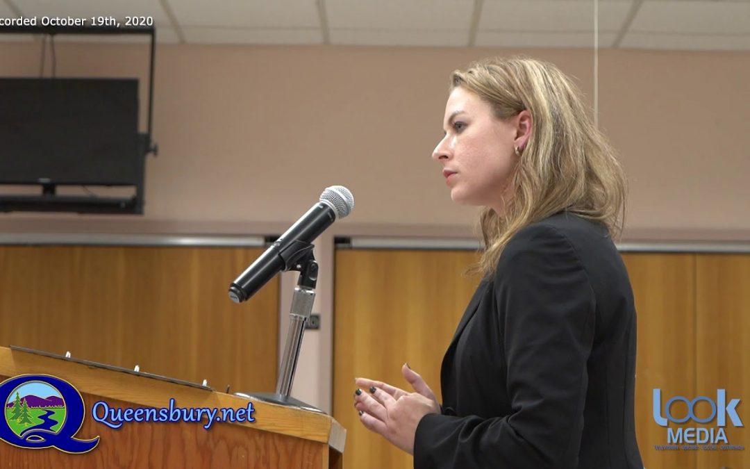 Queensbury Town Board Meeting 10-19-20