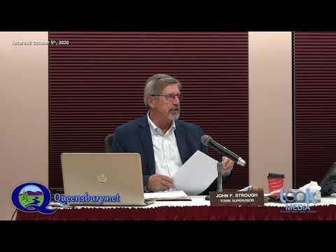 Queensbury Town Board Meeting 10-5-20
