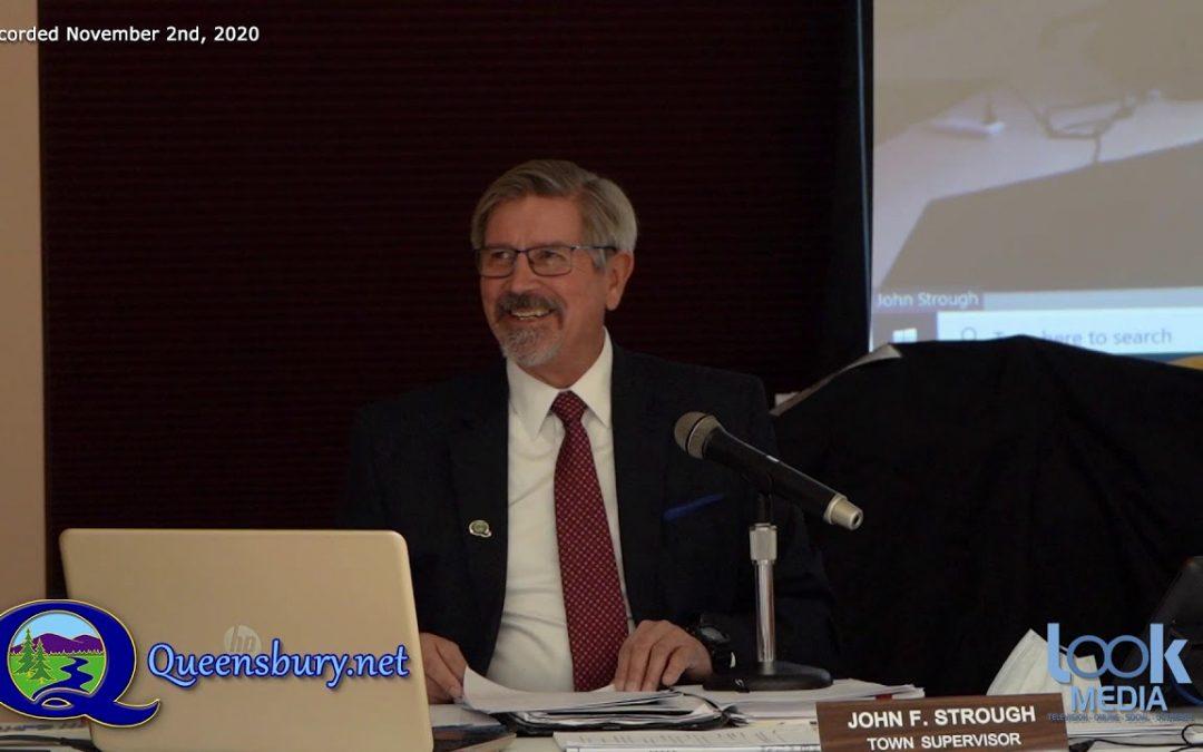 Queensbury Town Board Meeting 11-2-20