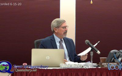 Queensbury Town Board Meeting 6-15-20