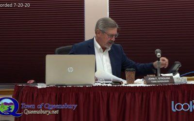 Queensbury Town Board Meeting 7-20-20