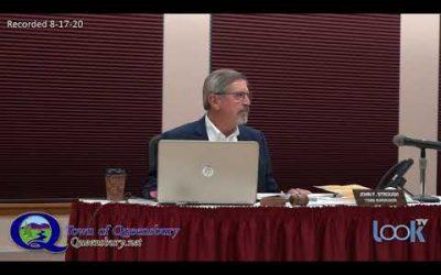 Queensbury Town Board Meeting 8-17-20