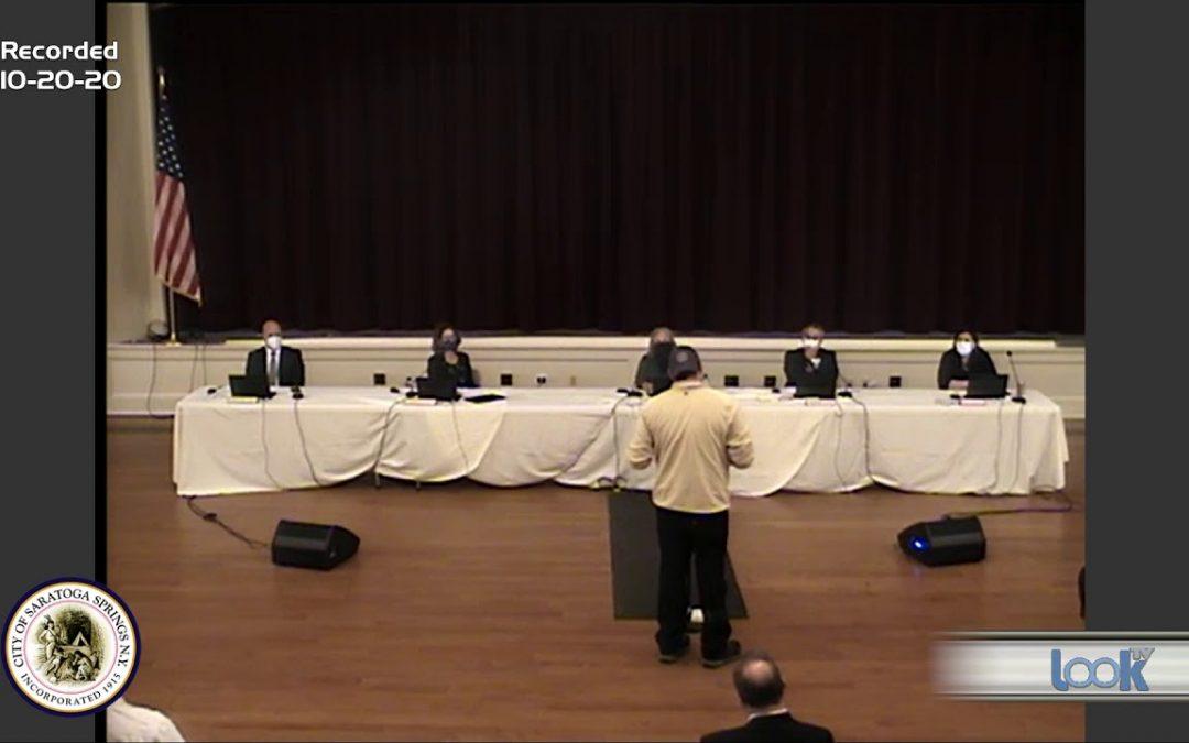 Saratoga Council Meeting 10-20-20