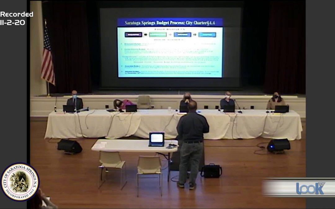 Saratoga Council Meeting 11-2-20