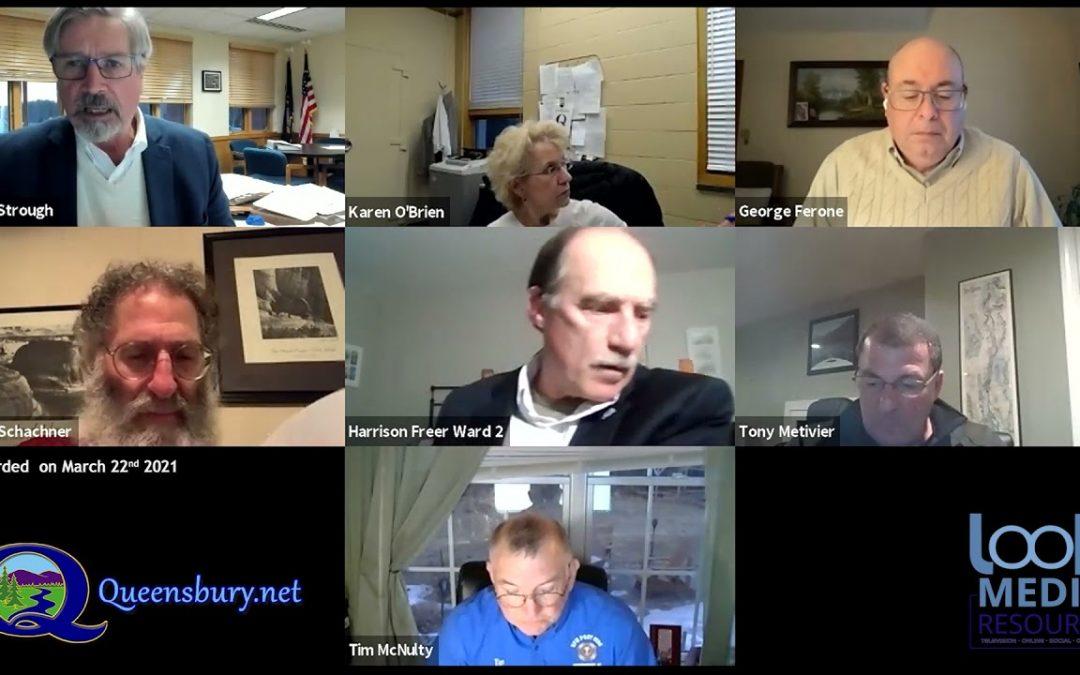 Queensbury Town Board Meeting 3-22-21