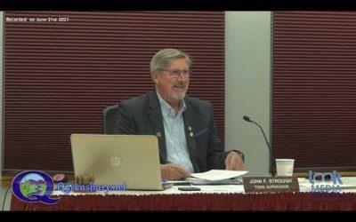 Queensbury Town Board Meeting 6-21-21