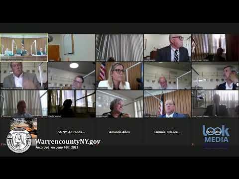 Warren County Board of Supervisors Meeting- 6-16-21