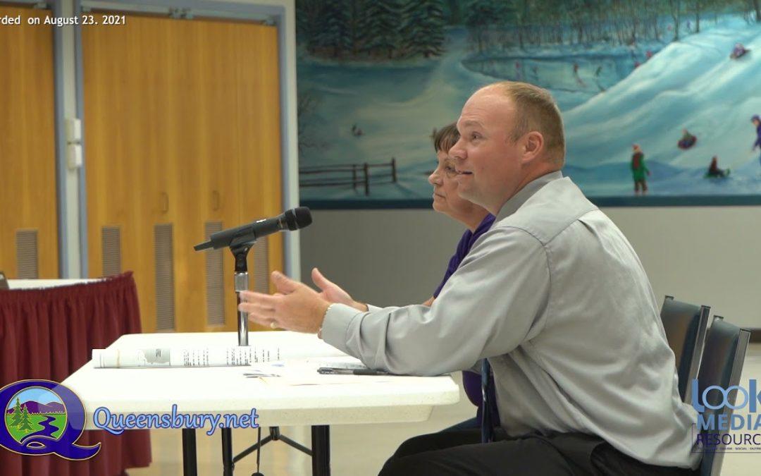 Queensbury Town Board Meeting 8-23-21