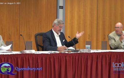 Queensbury Town Board Meeting 8-9-21
