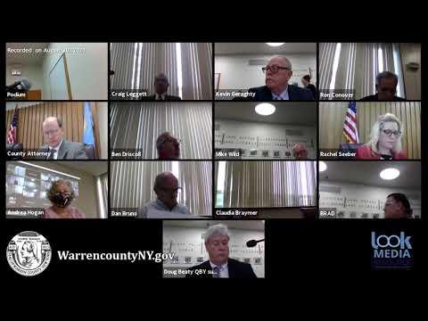 Warren County Board of Supervisors Meeting 8-20-21