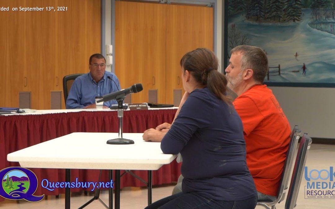Queensbury Town Board Meeting 9-13-21