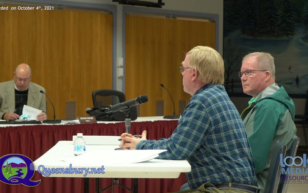 Queensbury Town Board Meeting 10-4-21